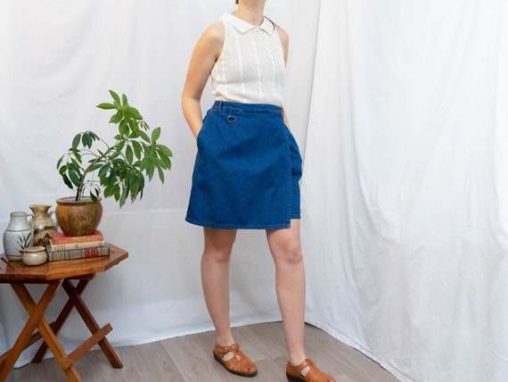 denim skort / jean shorts / jean skirt