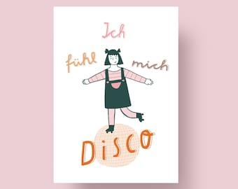 "Postcard ""I feel disco"", A6"