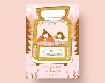 Postcard Van Urlaub, A6