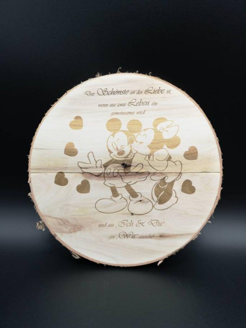 Bark diameter 24 cm-Wood Laser Engraving Photo Engraving MotifGift Friends Favorite Man Colleague Partner Love