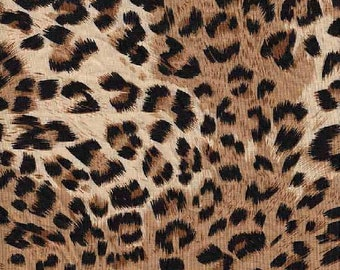 ce550271d Animal Printed Rayon Spandex Jersey Knit Fabric (013) Taupe New