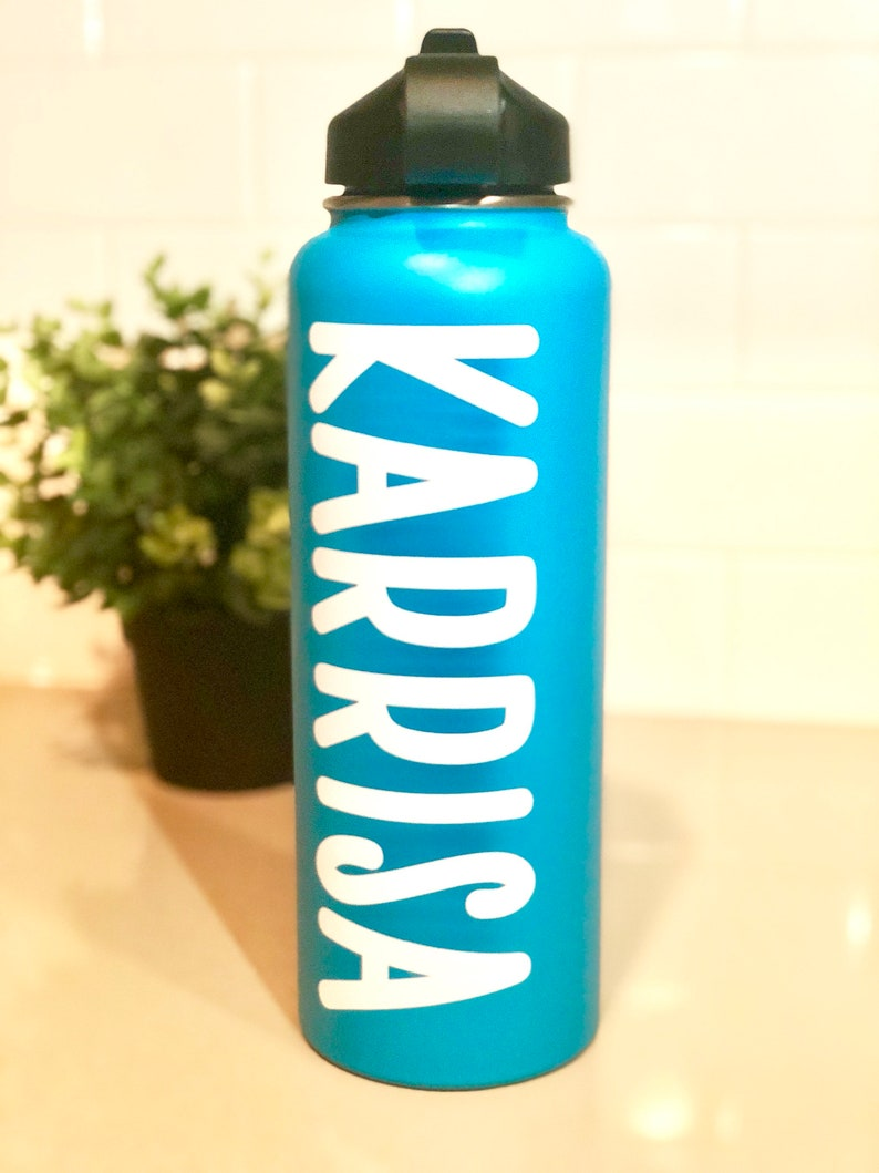 Name decal for hydroflask custom vinyl sticker water etsy