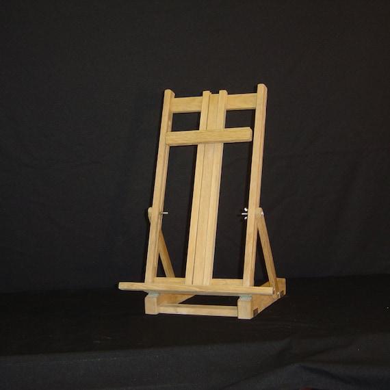 Rescued Wood Crafts Foldable Art Easel Oak Desk Top Art Stand