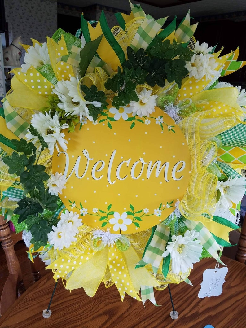 Daisy/'s welcome wreath summer wreath