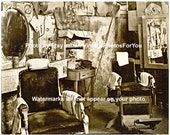Vintage Old Antique 1936 Atlanta Georgia Barber Shop Chair Haircut Photo Picture Wall Art Decoration Reproduction