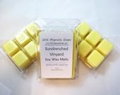 Sundrenched Vineyard Scented Soy Wax Melts - - 6 Cavity Clamshell Aromatherapy Wax Warmer Tea Light Melt Tart Melt