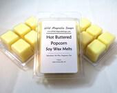 Hot Buttered Popcorn Scented Soy Wax Melts - - 6 Cavity Clamshell Aromatherapy Wax Warmer Tea Light Melt Tart Melt