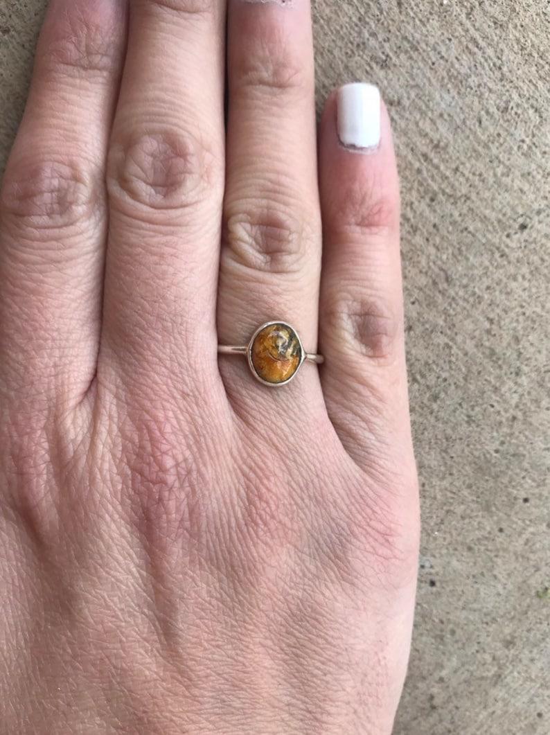 Natural Amber Dark Silver Sterling \u2022 Brown Stone Orange Raw Boho friend \u2022 Ring Sale Handmade \u2022 Wedding Engagement   gift\u2022 Mothers Day GIft
