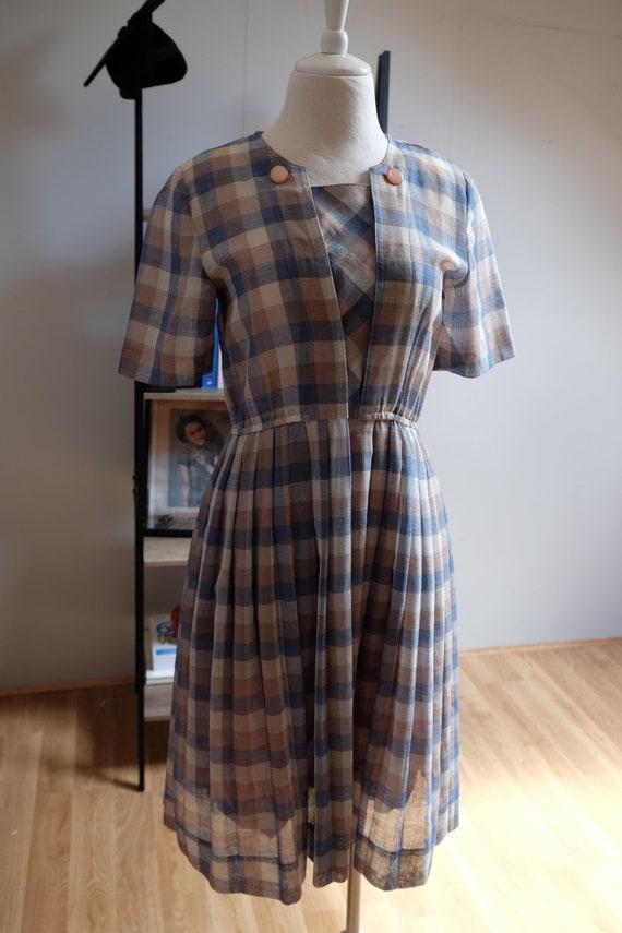 Vintage Japanese Gingham Dress - Size S
