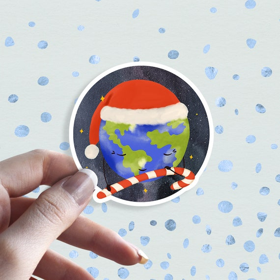 Cute Earth Planet Car Laptop Phone Vinyl Sticker SELECT SIZE