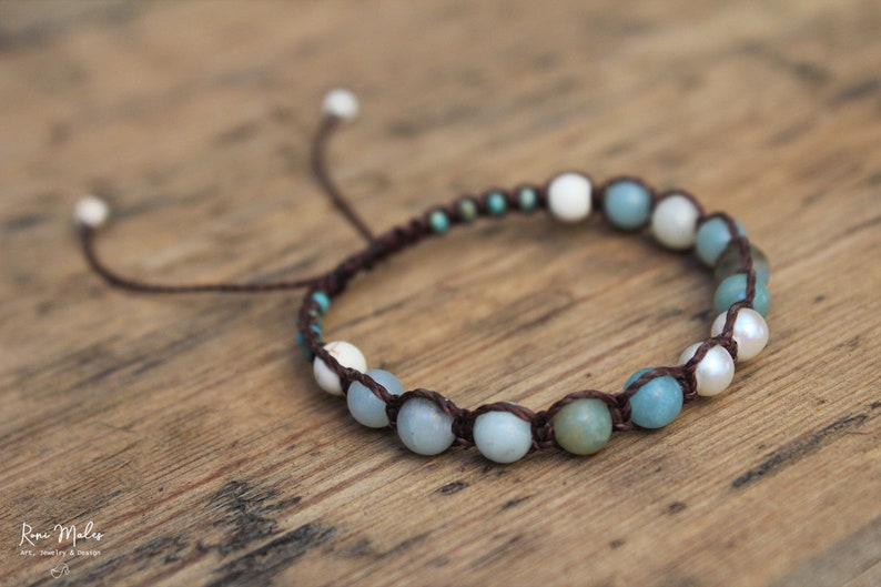 Amazonite Shamballa Bracelet