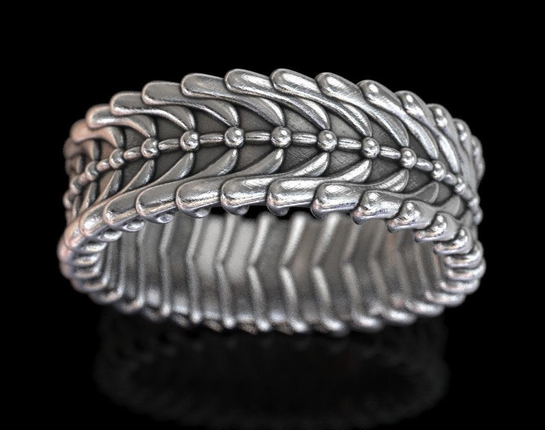 Exclusive Ring For Stylish Wedding Men/'s Biker Oxidized In 925 Sterling Silver Unique Band For Him Anniversary Ring Statement Ring