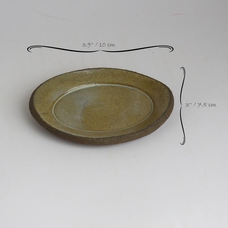 Trinket Ring Dish Valentines Day Gift Ring Display Oval Ceramic Ring Dish Clay Ring Dish Jewelry Dish Brown Ring Dish Ring Holder