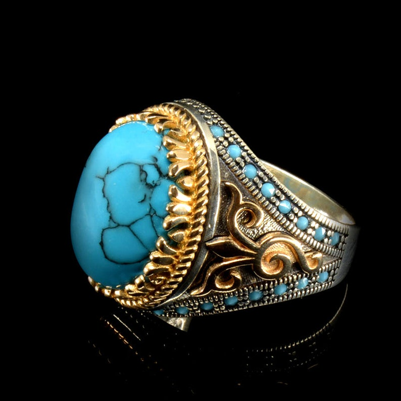 mens ring,Mens Ring,turquoise  rings,mens gift,father gift silver,handmade jewelry, men jewelry turkish jewelry