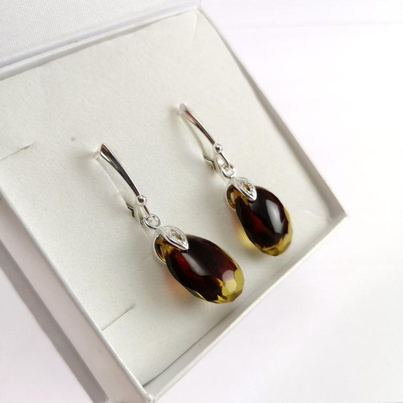 Amber jewelry Amber set Amber earrings and luxury pendant