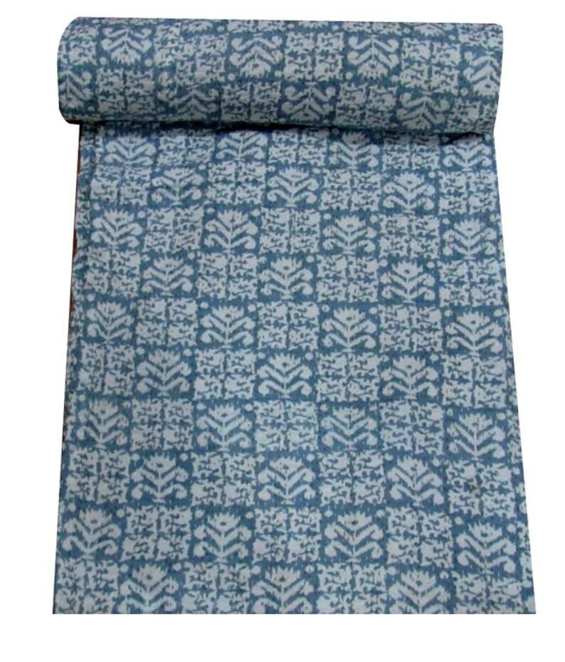 100/% cotton Handblock Kantha Quilt Home Decor Handmade Kantha Quilt Kantha Bedspread Indian Kantha Throw Indian Cotton Kantha Quilts Gift