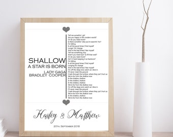 Shallow song | Etsy