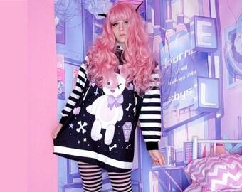 Pastel goth - Kawaii - Fairy Kei - Kawaii clothing - Kawaii Hoodie - Pastel goth clothing - Creepy cute - Halloween dress