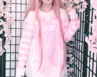 Menhera - Yami Kawaii - Kawaii clothing - Pastel goth - Menhera kei - Pastel Kawaii - Creepy cute - Cute Kawaii Oversized sweatshirt