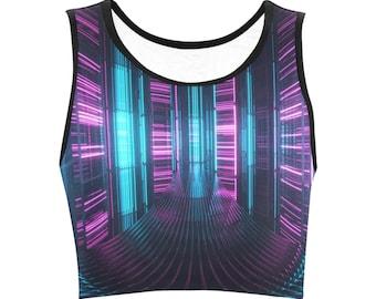 Rave bra - Rave clothing women - Rave wear - Festival clothing - Rave crop top - Festival burning men - Rave top - Festival top - Cyberpunk