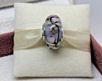 e2c63ff85 Authentic Pandora Enchanted Garden Glass Murano Bead Beads Charm Charms
