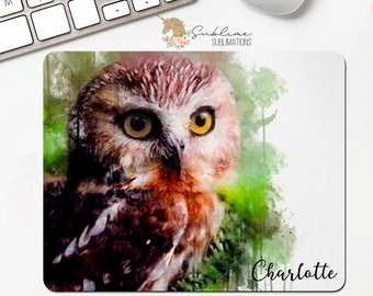 Owl Personalized Mousepad Gift-Office Gift-Secretary Gift-