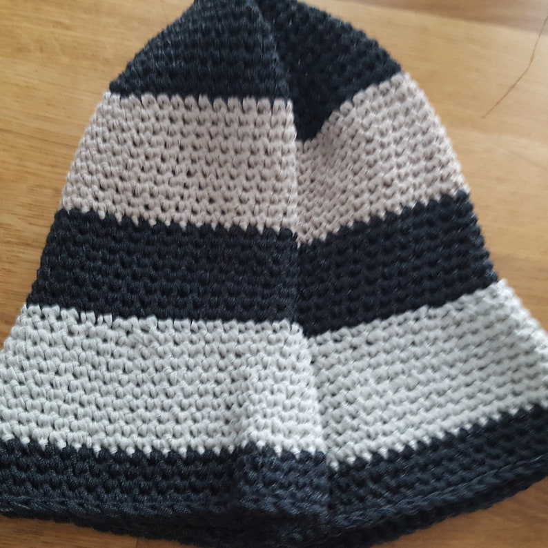 Commuter Hat Beach Hat CottonNylon Travel Hat Striped Hat Sunny Day Bucket Hat Washable