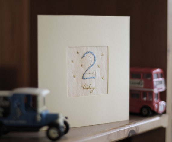 Customised Birthday Cards For Boys And Men Hand Embroidery