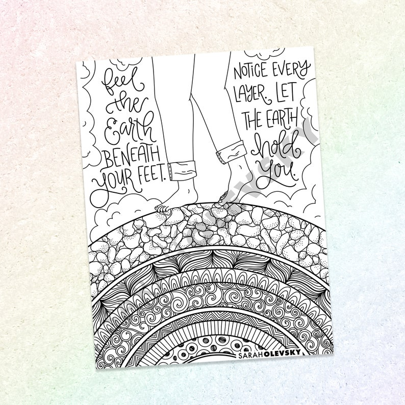 Let the Earth Hold You  Art Therapy Grounding Activity  image 0