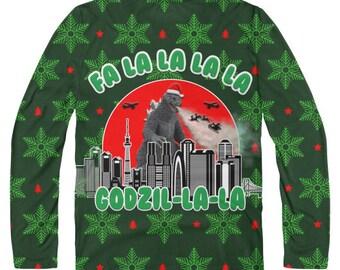 Godzilla Christmas Etsy