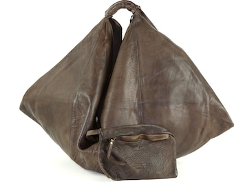 805e3864d Brown Leather Bag,Hand Made Leather Bag,Italian Leather Bag,Washed Leather  Bag,Leather Purse,Boho Leather Bag,Italian Hobo Leather Bag
