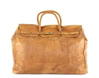 8ea8075f4bac Vintage Leather Bag Traveler Bag Shoulder Bag Italian Leather Bag Washed  Leather Genuine Leather