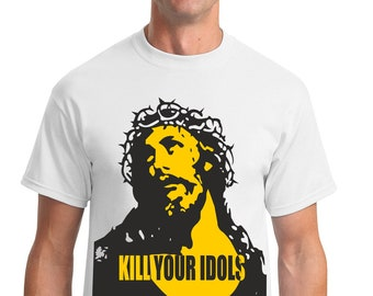 fb387fa0 Kill Your Idols Worn By Axl Rose Rock Band Music White Unisex T-Shirt Tee  DM99
