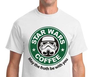 Starwars Stormtrooper Jedi Coffee Starbucks Parody Men Women Unisex T-shirt 990 Herrenmode Shirts & Hemden