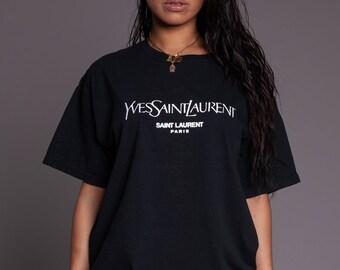 5cca4f059a1e Yves Tees Luxury Inspired Bape Yeezy Kanye West Vlone Palace CDG Unisex Black  T-Shirt