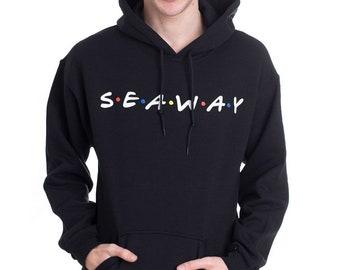 Seaway Rock Band Music Friends Parody Black Unisex HOODIE HOODED SWEAT DM56