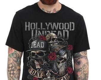 cbc67d90dd74d Hollywood Undead Rock Band Music Black Unisex T-Shirt Tee DM89