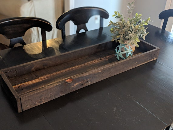 Custom Built Farmhouse Dining Room Table Centerpiece Tray Etsy