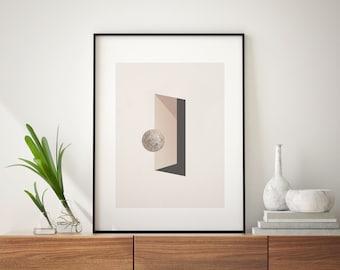 Abstract Doorway (Art Print): Minimal Art. Modern Poster. Art Print. Geometrical Art. On structured Paper.