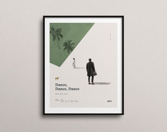 Dance Dance Dance by Haruki Murakami (Art Print): Minimal Art. Modern Poster. Literature Art. Geometrical Art. On structured art paper.