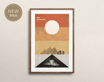 The Alchemist by Paulo Coelho (Art Print): Minimal Art. Modern Poster. Literature Art. Geometrical Art.