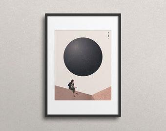 Honored Guest (Art Print): Minimal Art. Modern Poster. Art Print. Geometrical Art. On structured art paper.