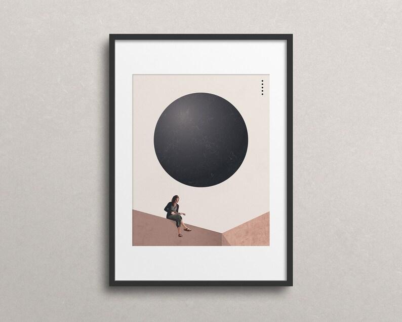 Honored Guest Art Print: Minimal Art. Modern Poster. Art image 0