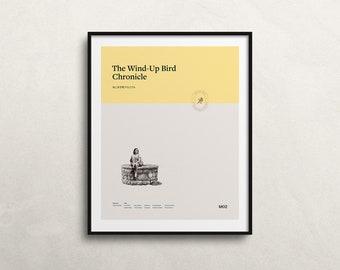 The Wind-Up Bird Chronicle by Haruki Murakami (Art Print): Minimal Art. Modern Poster. Literature Art. On structured art paper.