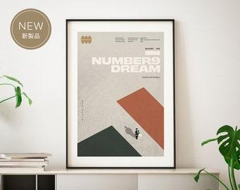 Number9Dream by David Mitchell (Art Print): Minimal Art. Modern Poster. Literature Art. Geometrical Art. On structured art paper.
