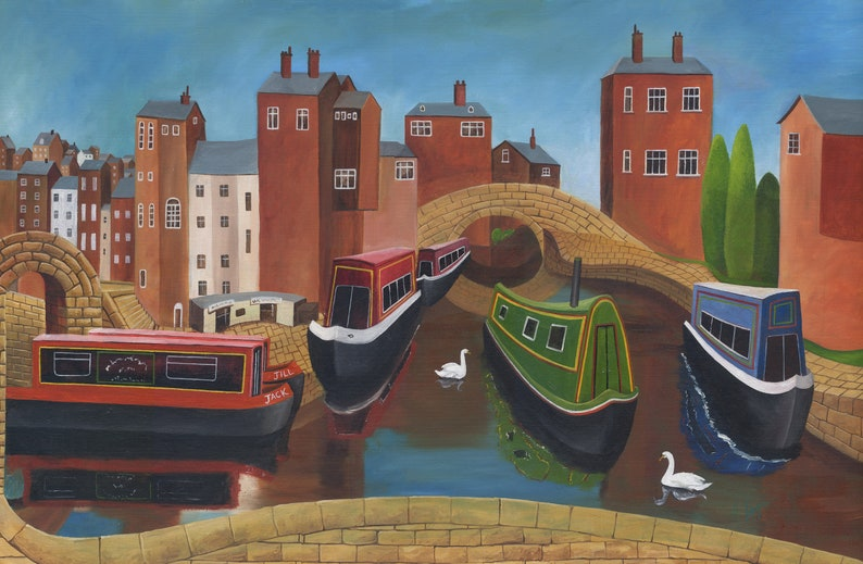 Barges on Canal Skipton image 0
