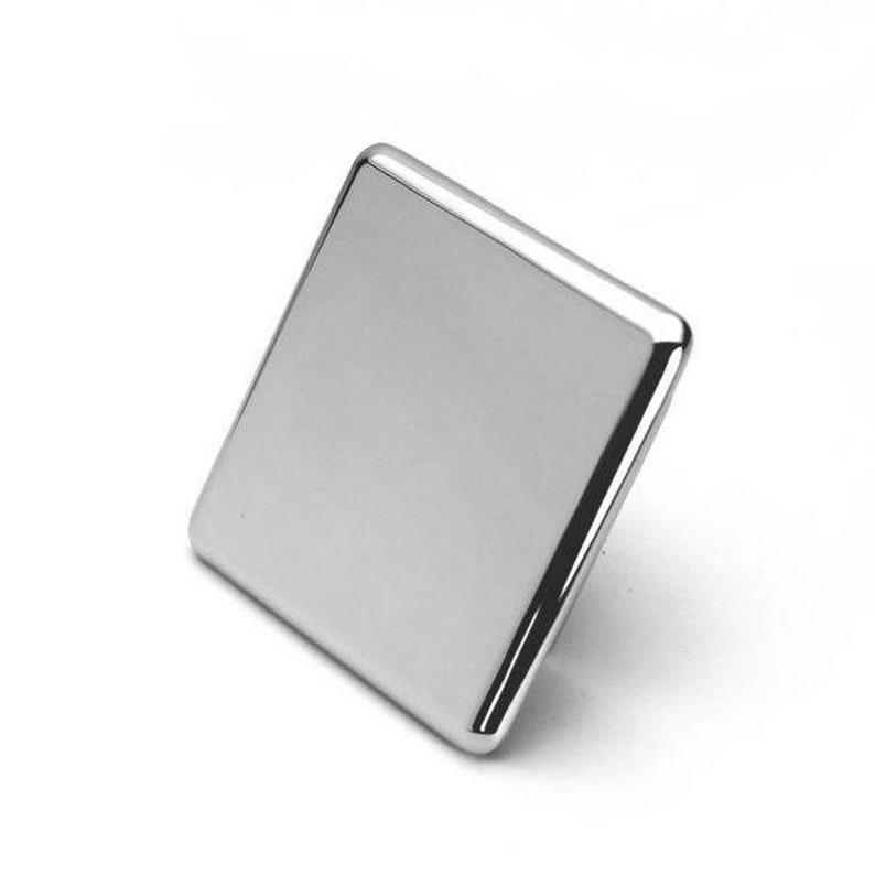 Scandinavian Style Design Width 62 mm Bellinge  Contemporary Square Chrome Plated Knobs 2 716 Hardware for Cabinets and Drawers