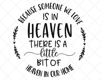 Christmas In Heaven Poem Svg.Heaven Svg Etsy