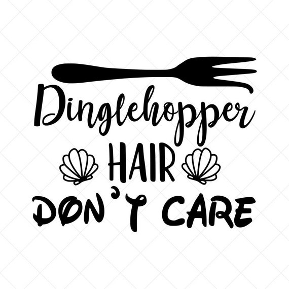 Dinglehopper Hair Don T Care Svg Disney Svg Vector File Etsy