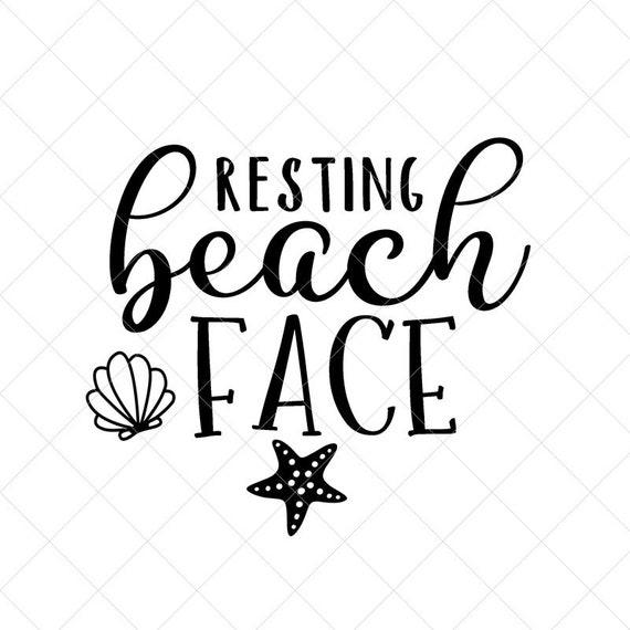 Resting Beach Face Svg Summer Svg Png Eps Dxf Cricut Cut Etsy